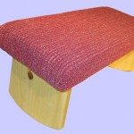 padded-meditation bench soft plush fuchsia