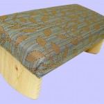padded-meditation-bench-leaf-pattern