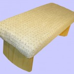 white padded-meditation-bench-with-soft-white-fabric