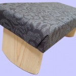 black and grey meditation bench